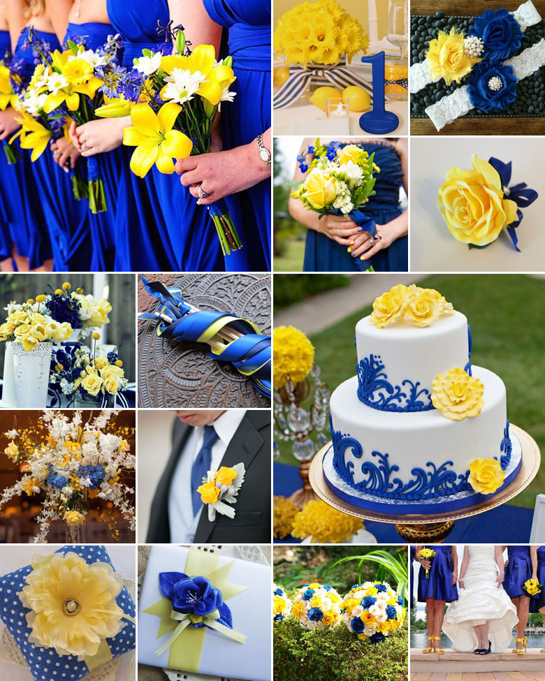 Wedding Ideas By Colour: Blue And Yellow Weddings