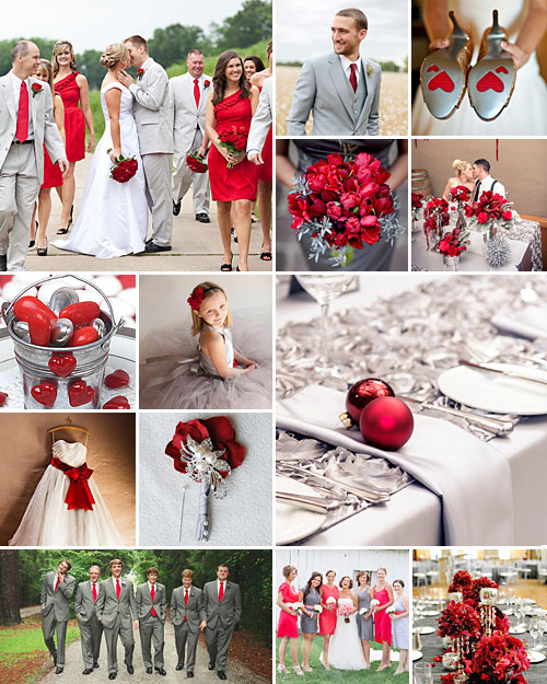 Grey Wedding Ideas: Red, Grey And Silver Weddings