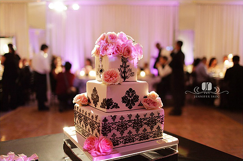 dusty pink and silver wedding cakes dusty pink and black 13796