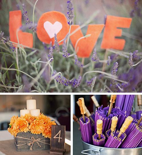 Purple Orange Wedding Ideas: Purple And Orange Weddings