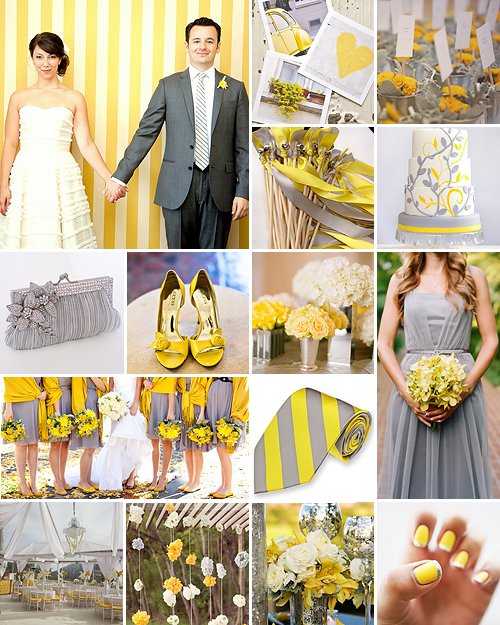 Sunshine + Sparkle { Yellow + Silver }