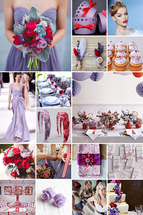 Lilac and Red Wedding Ideas