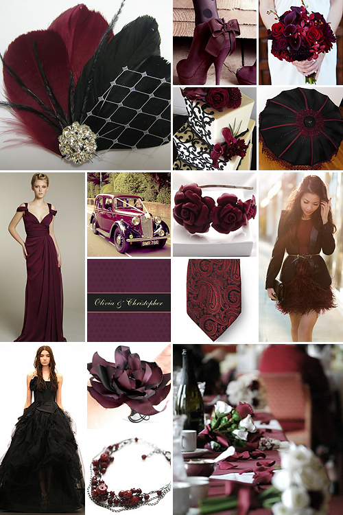 Black And Maroon Weddings