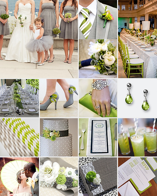 Lime green and grey weddings - Olive green and grey ...
