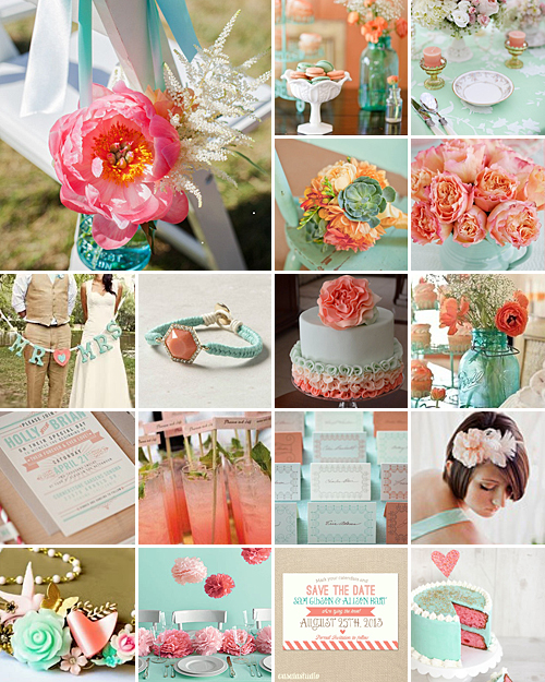 Mint And Coral Weddings