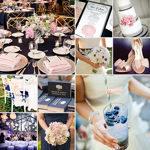 navy and blush weddings