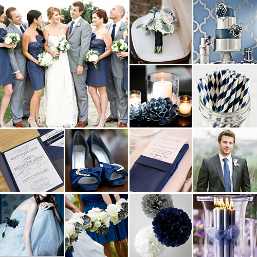Honeymoon Themed Bridal Shower Navy And Coral Wedding