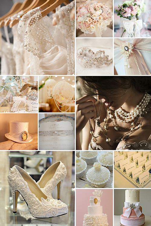 lace and pearl weddings