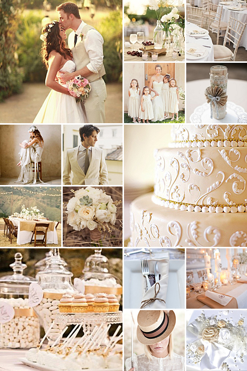 beige and white weddings