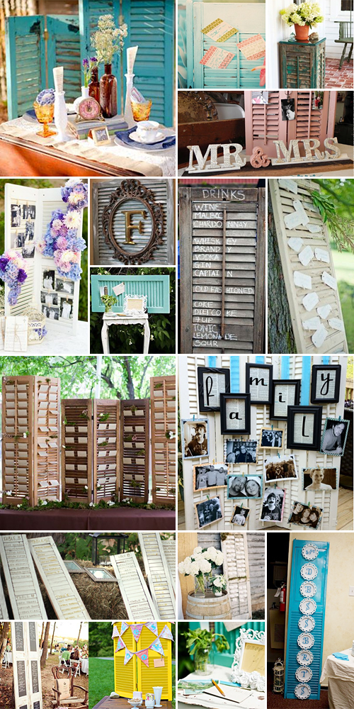 wedding shutters and shutter ideas