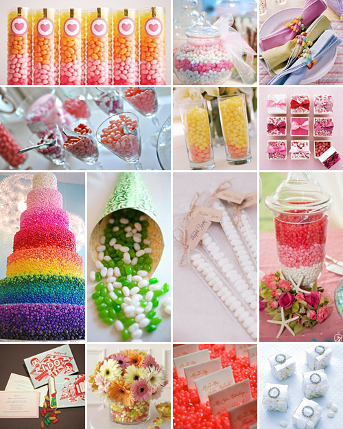 wedding jelly bean ideas