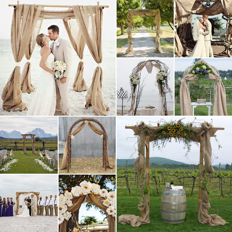 burlap-wedding-arches