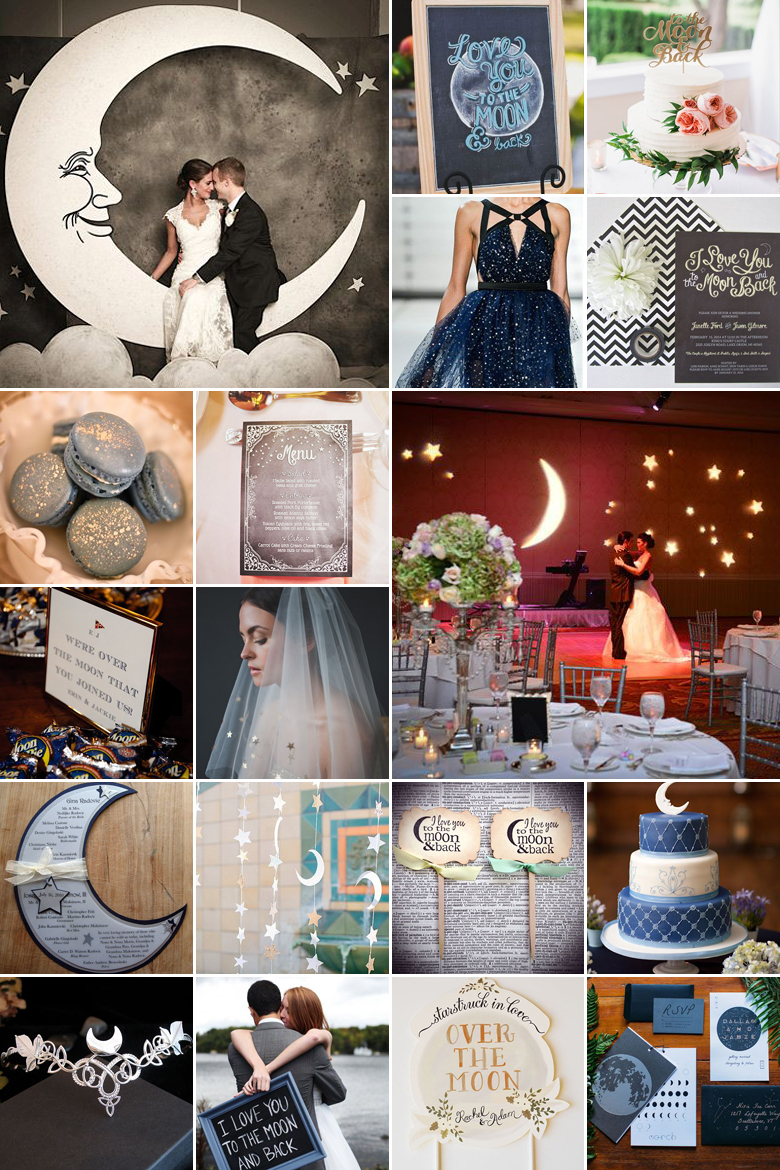 over the moon wedding theme - Western Wedding Guest Book