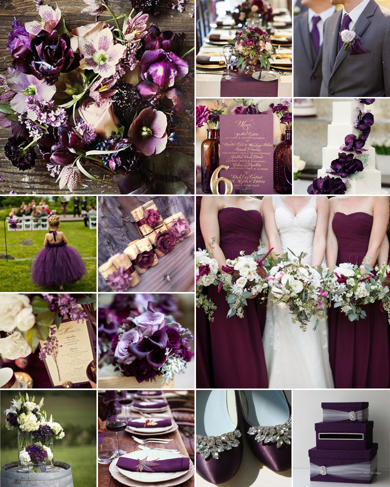 Wedding Ideas By Colour: Aubergine / Eggplant Wedding Colours