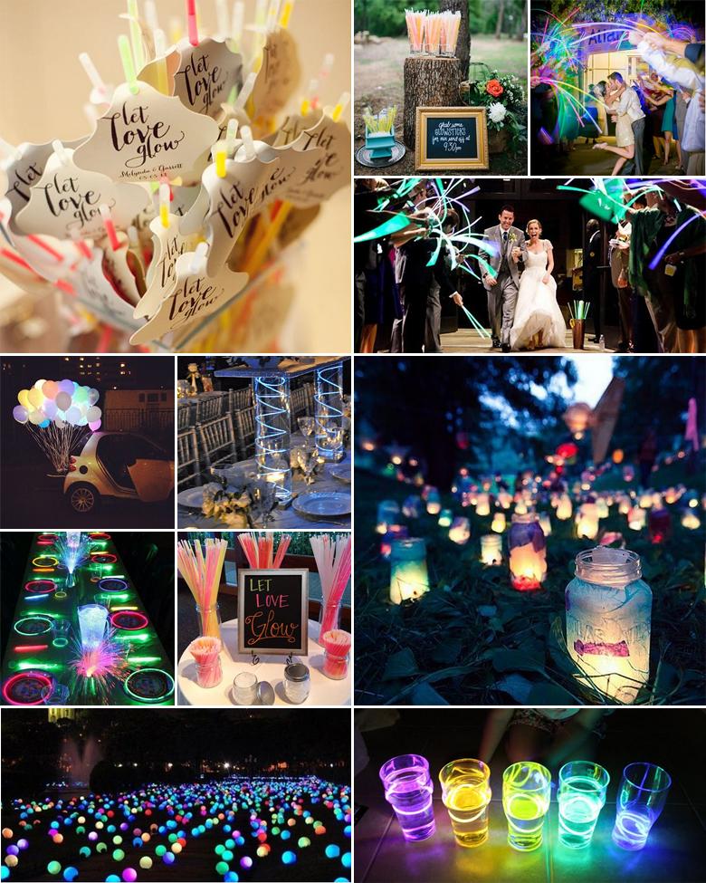 Wedding Reception Ideas For Older Couples: Neon Wedding Inspiration