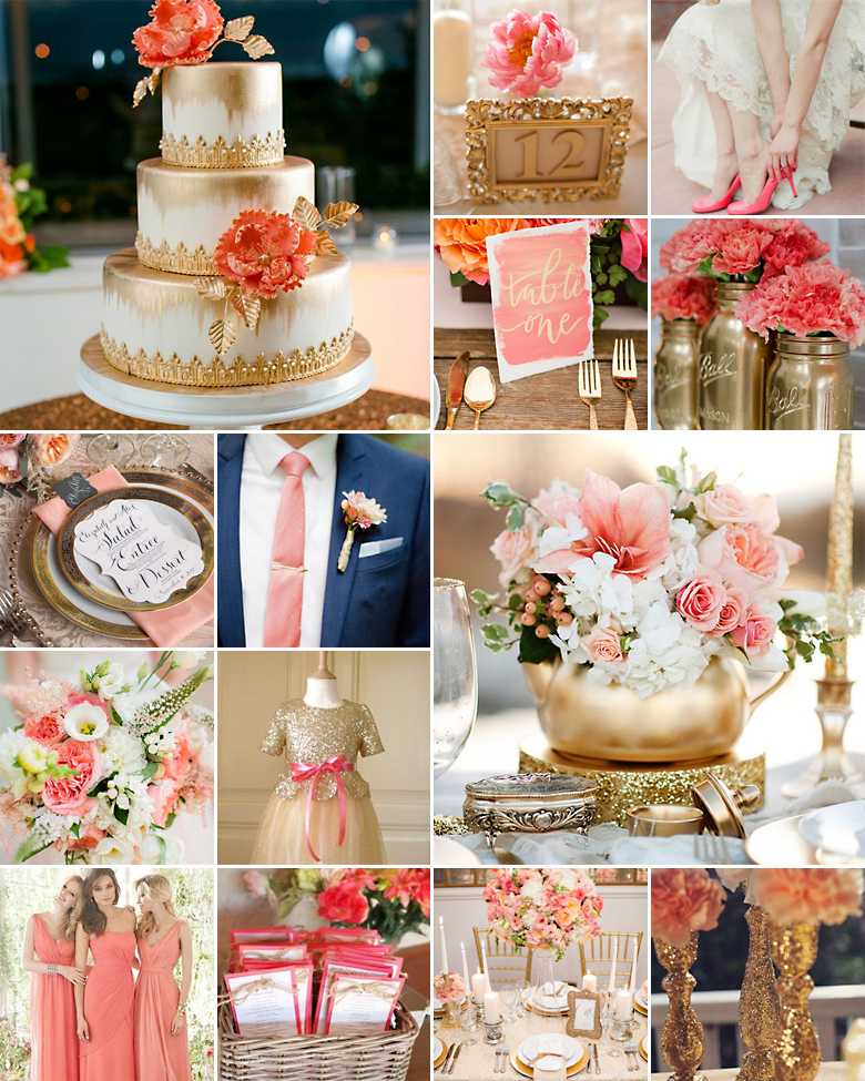 coral-and-gold-wedding-inspiration