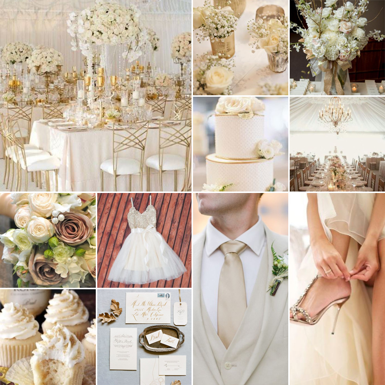white-cream-gold-weddings