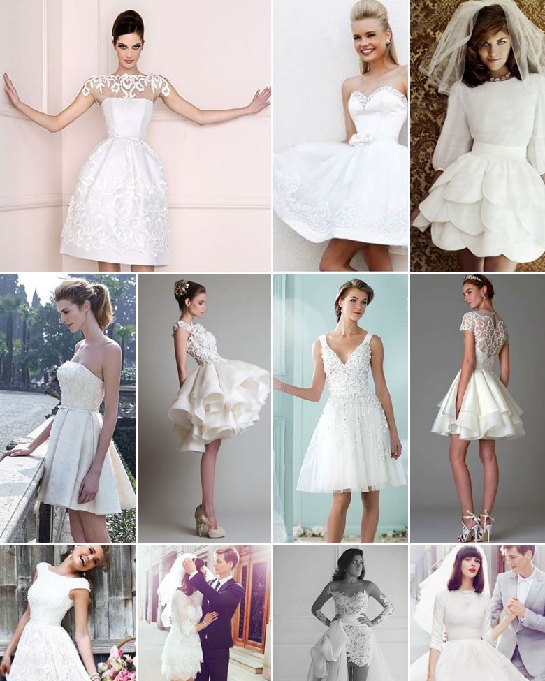 Mini Skirt Wedding Dresses