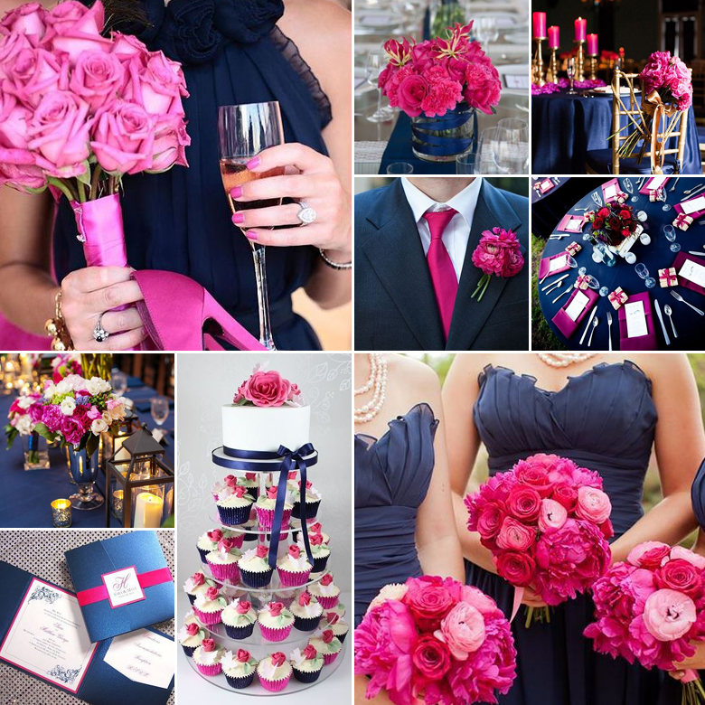 navy-and-fuchsia-wedding-colours