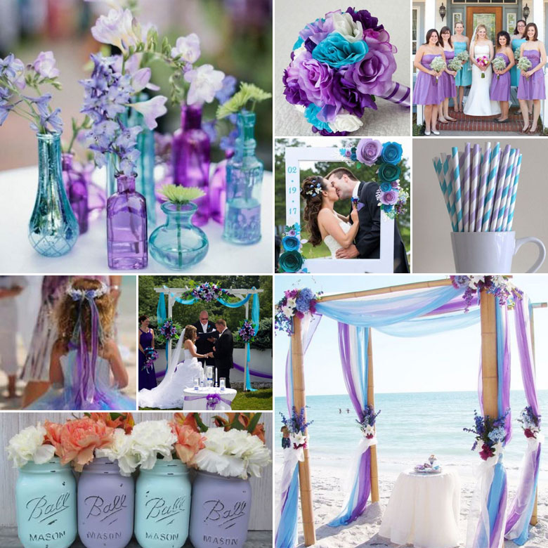 Lavender And Turquoise Wedding Combo