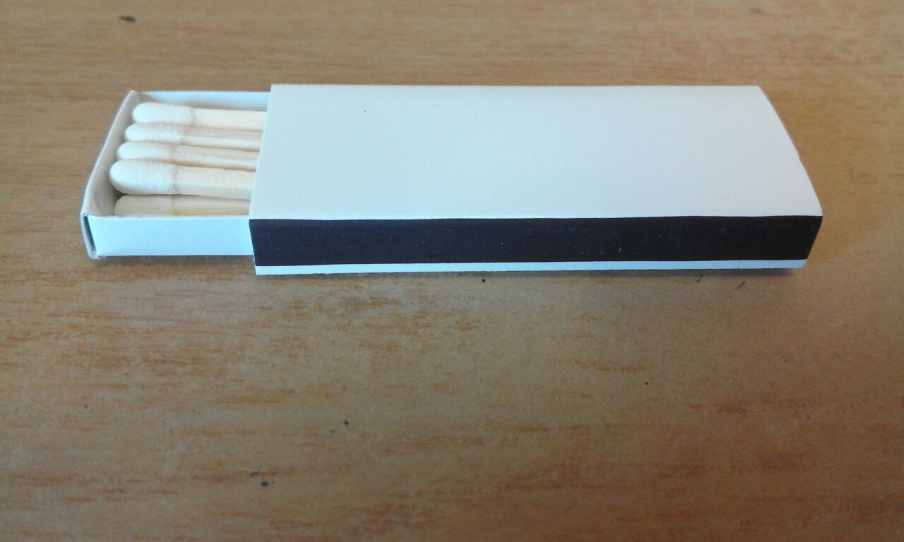 Plain White Slim Line Match Boxes