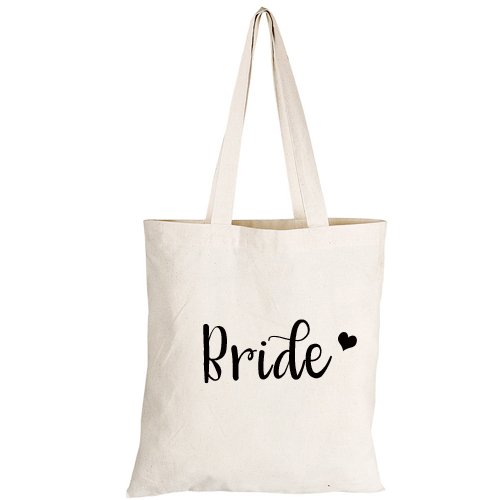Bride Tote Bag with Heart