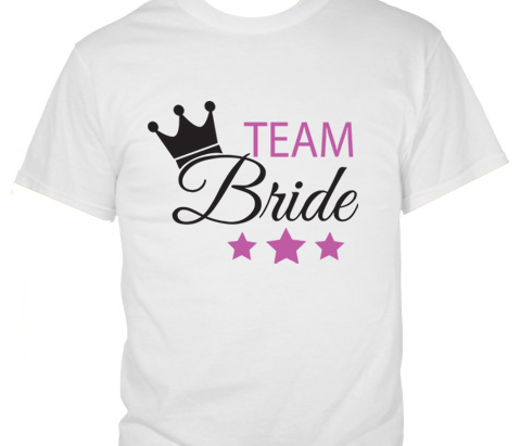 Team Bride with Crown and Stars T-Shirt