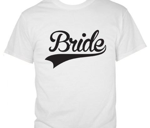 Baseball Style Bride T-shirt