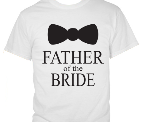 Bow Tie Father of the Bride T � Shirt