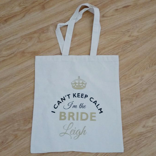 I Can't Keep Calm Bride's Tote Bag