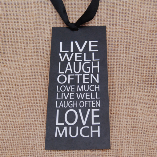 Live Well, Laugh Often Wedding Bookmark