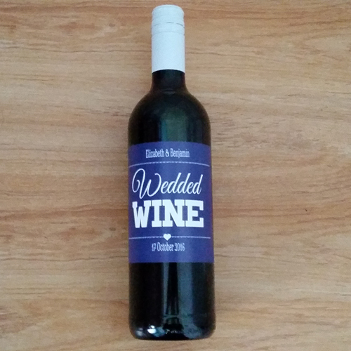 Wedded Wine Label